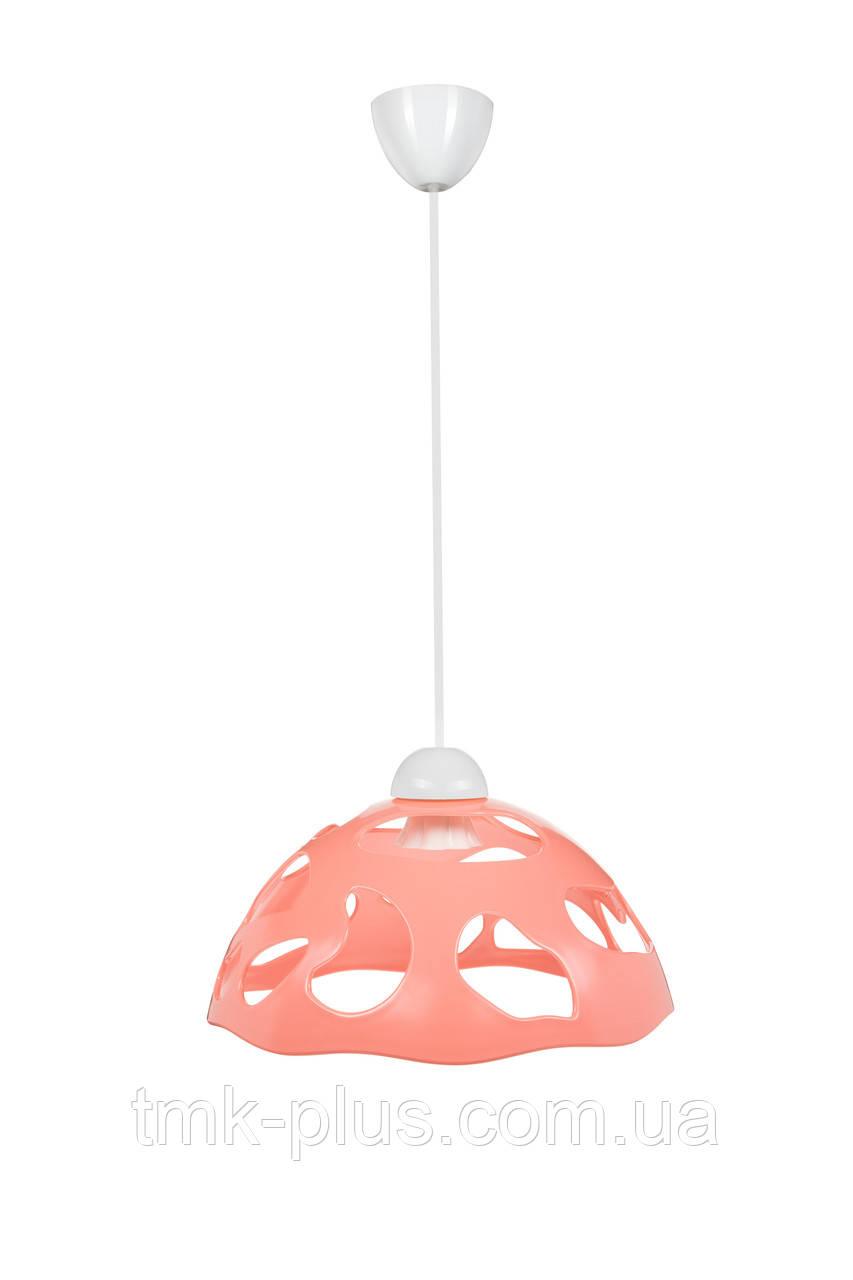 Декоративний світильник ERKA 1304 стельовий 60 W рожевий Е27
