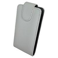 Чехол книжка Samsung Chаt S5270 Змеиный принт Белый