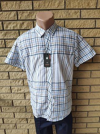 Рубашка мужская летняя коттоновая  брендовая высокого качества WHITE MOUNTAIN, Турция, фото 2