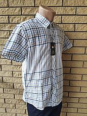 Рубашка мужская летняя коттоновая  брендовая высокого качества WHITE MOUNTAIN, Турция, фото 3