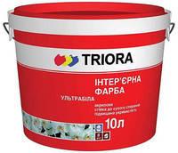 Краска интерьерная ультрабелая Триора 3Л