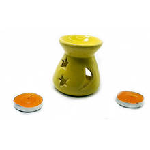 Керамическая аромалампа желтая