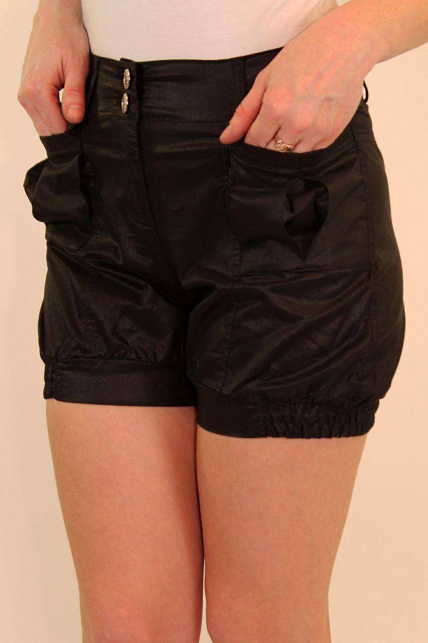 Черные короткие шорты 42-48 р
