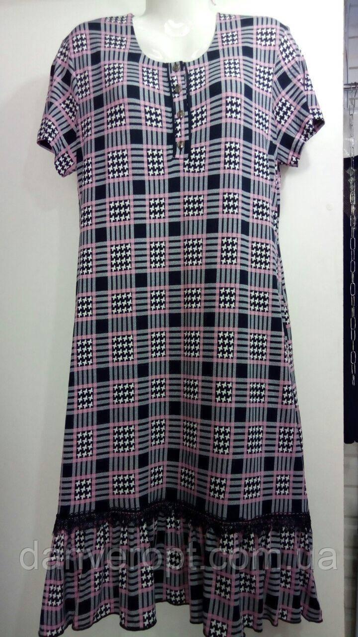 Халат женский стильный с оборкой размер L-3XL, купить оптом со склада 7км Одесса