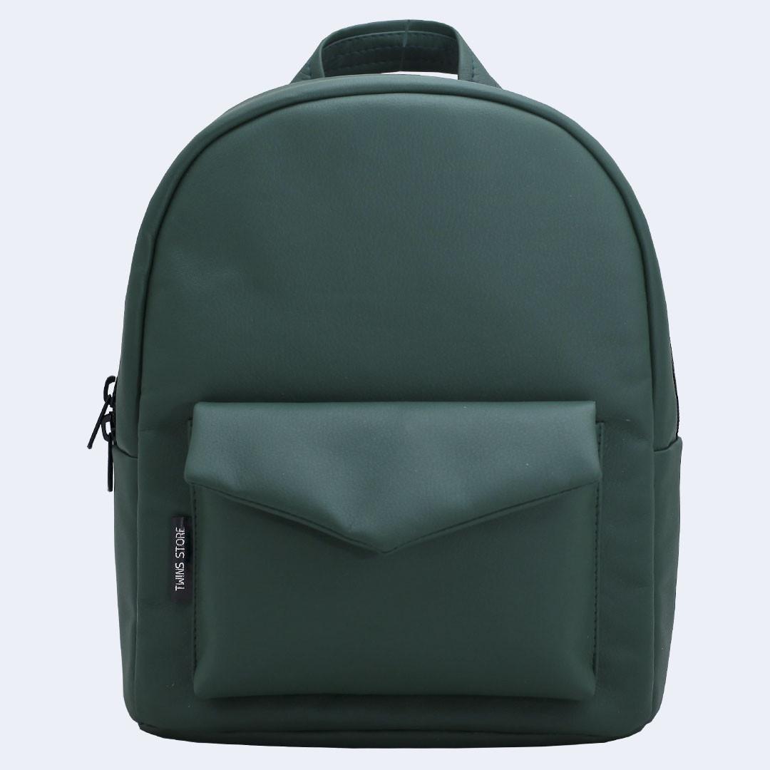 Рюкзак кожаный Twins зеленый