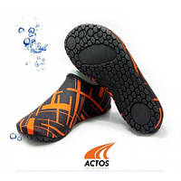 Обувь Actos Skin Shoes для спорта, йоги, плавания (NEO BLACK)