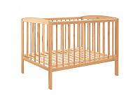 Кровать для детей 0120 деревянная (бук), 124-65,5-85см