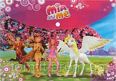 """Папка пластиковая """"Mia&Me"""", (на кнопке, формат А-4)"""