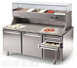 Холодильные и морозильные столы, столы для пиццы, саладетты