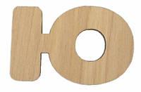Деревянные буквы Shasheltoys Буква Ю 35 мм (080102.32)