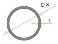Труба круглая 8х1