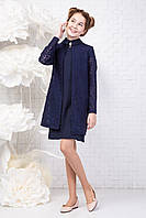 Модный школьный комплект на девочку подростка Платье+ кардиган Размер 146
