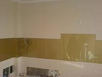 Изготовление кухонного фартука- цвет золото