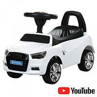 Толокар-каталка Audi на колесах с резиновым покрытием Bambi M 3147A(MP3)-1 белый
