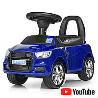 Машина детская на колесах с резиновым покрытием Audi Bambi M 3147A(MP3)-4 синий