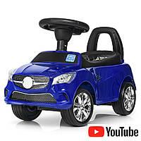 Толокар-каталка Mercedes на колесах с резиновым покрытием Bambi M 3147C(MP3)-4 синий