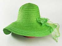 Соломенная шляпа Силько 46 см зеленый