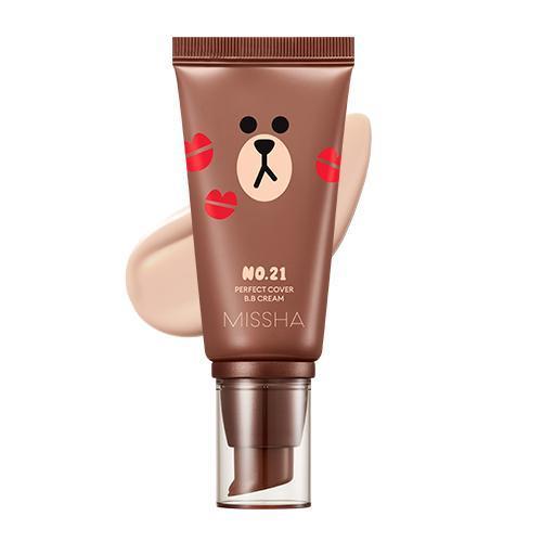 BB крем Missha M Perfect Cover BB Cream SPF 42 PA+++ №21 Line Friends Edition