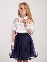 Блузка с длинным рукавом из сеточки  .Размер 128-146.