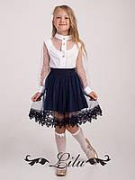 Праздничная блуза для девочек.Размер 128-146.