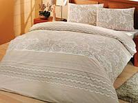 Комплект постельного белья Altinbasak Natura Krem Евро, ранфорс