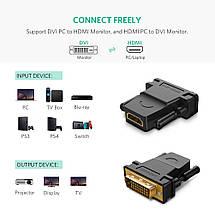 Переходник HDMI DVI D 24+1 Ugreen 20124 (Черный), фото 2