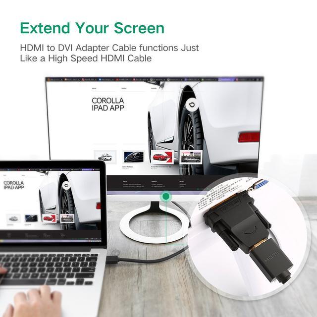Переходник HDMI DVI D 24+1 Ugreen 20124 Черный