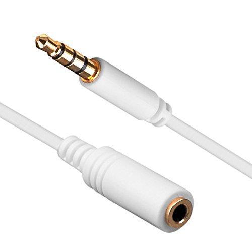 Аудио кабель-удлиннитель стерео сигнала Ligawo 6535052 3.5mm 1.5м белый 4-х контактный