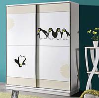 """Интерьерная наклейка """"Пингвины"""" черная, фото 1"""