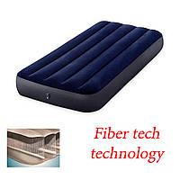 Надувной матрас intex 76х191х25 fiber tech