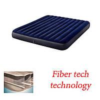 Надувной матрас intex 183х203х25 fiber tech