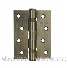Петля дверная карточная MVM Linde HE-100 AB античная бронза
