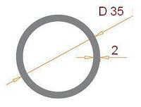 Труба круглая 35х2
