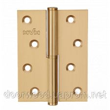 Петля дверная карточная MVM B-100L SB матовая латунь