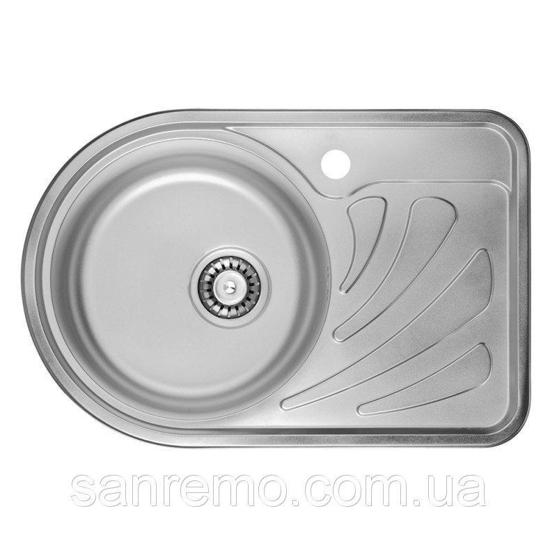 Кухонная мойка ULA 7111 Micro Decor 08 (нерж.)