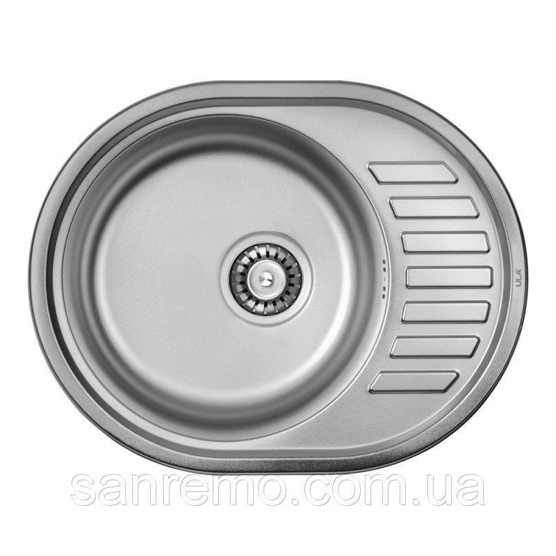 Кухонная мойка ULA 7112 Micro Decor 08 (нерж.)