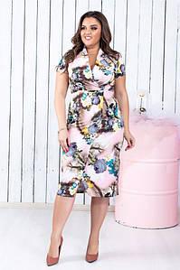 Шикарное летнее платье женское прямое. Ткань супер софт. Размеры 50,52,54,56. Цвета в ассортименте