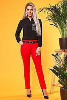 Красные брюки с 2 карманами, фото 1