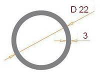 Труба круглая 22х3