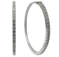 """Серебряные серьги """"Конго"""" - модные серьги-кольца 6см"""