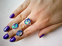 """Кольцо и серьги из серебра 925 пробы с золотом  - серебряный набор  женских украшений """"Марибель"""""""