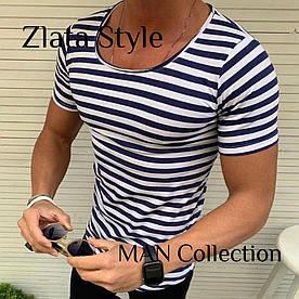 Мужские футболки в полоску. Ткань вискоза, производство Турция. Размеры S (44-46), M (48-50), L (52-54)