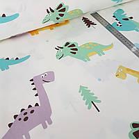 Динозавры, детское постельное белье из сатина
