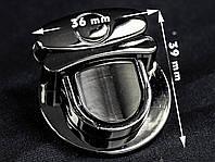 Замок сумочный 65-003 темный никель, р. 36*39мм, фото 1
