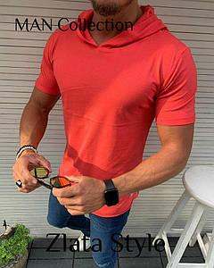 Мужские футболки с капюшоном. Ткань вискоза, производство Турция. Размеры S (44-46), M (48-50), L (52-54)