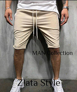 Мужские шорты, цвет черный, беж. Размеры S (44-46), M (48-50), L (52-54). Ткань двухнить, производство Турция