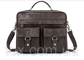 Сумка мужская Vintage винтажная кожа 14610, Серый