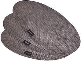 Набір 4 сервірувальних килимка Fissman Cyprian-671 овал 45х30см, пвх