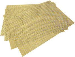 Набір 4 сервірувальних килимка Fissman Cyprian-648 прямокутні 45х30см, пвх