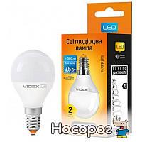 Светодиодная лампа VIDEX E-series G45e 3.5W E14 4100K 220V (VL-G45e-35144)